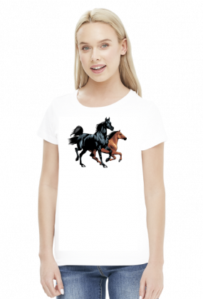 Koszulka z końmi