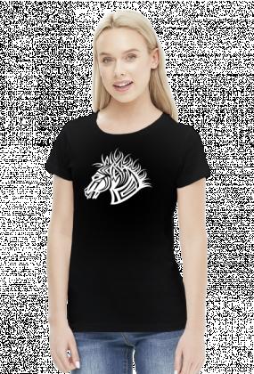 Kon tribal - koszulka damska