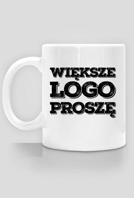 Kubek - Większe LOGO proszę - chcetomiec.cupsell.pl - koszulki nietypowe dla informatyków