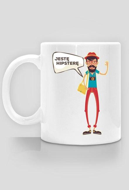 Kubek - Jestę hipsterę - chcetomiec.cupsell.pl - kubki na prezent, śmieszne kubki