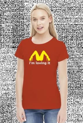 McDonalds Sex Loving It Women T-shirt Red