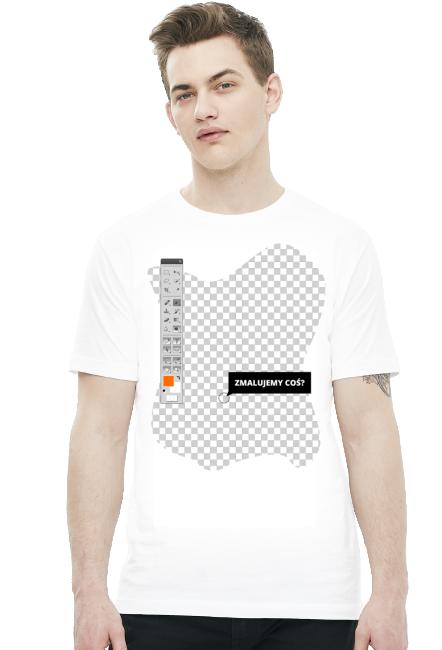 Koszulka - Zmalujemy coś? - koszulki nietypowe, śmieszne, dla grafików - chcetomiec.cupsell.pl