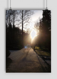 Plakat z wizerunkiem Parku Zdrojowego