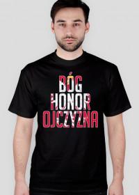 T-Shirt - Bóg, Honor, Ojczyzna - Czarny - Męski