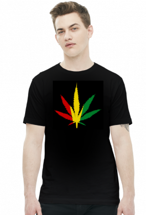 Koszulka marihuana rasta