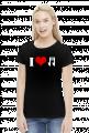 I love music - koszulka damska czarna