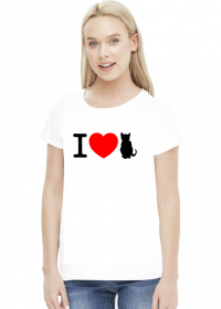 I love koty - koszulka damska