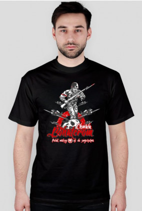 T-Shirt - Chwała Bohaterom - Męski - Czarny