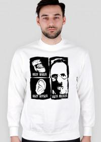 Bluza Męska Classic - Oczy widzą, uszy słyszą, usta milczą - Biały