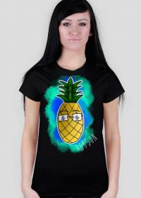 Ananas - Czarna damska
