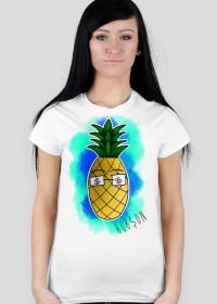 Ananas - Biała damska
