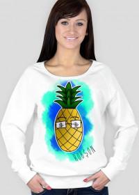 Ananas - Biała Bluzka Damska