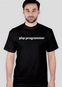 PHP, MySQL Programmer - koszulka bez logo, czarna