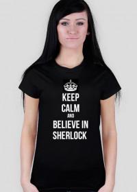 believe in sherlock czarna