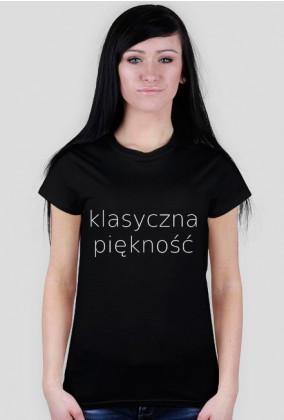 T-SHIRT KLASYCZNA PIĘKNOŚĆ BLACK