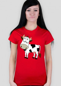 Krowa - koszulka damska