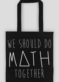 Torba czarna - WE SHOULD DO MATH TOGETHER