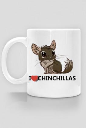 Kubek I Love Chinchillas