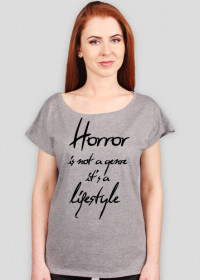 Horror is a lifestyle (negative version)