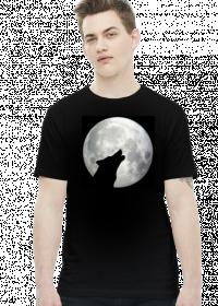 Koszulka z wilkiem wyjącym do księżyca