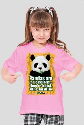 Koszulka dla dziewczynki - Panda. Pada