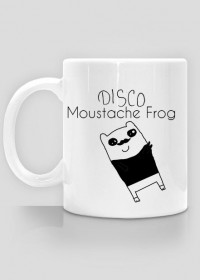 Disco Moustache Frog Kubek