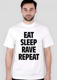 Eat Sleep Rave Repeat T - Shirt Biały