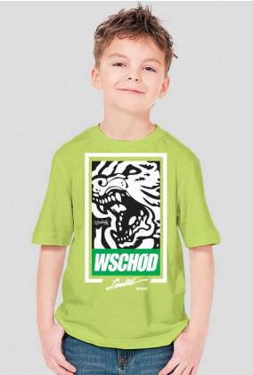 Wschód / wilk /zielone , białe wypełnienie