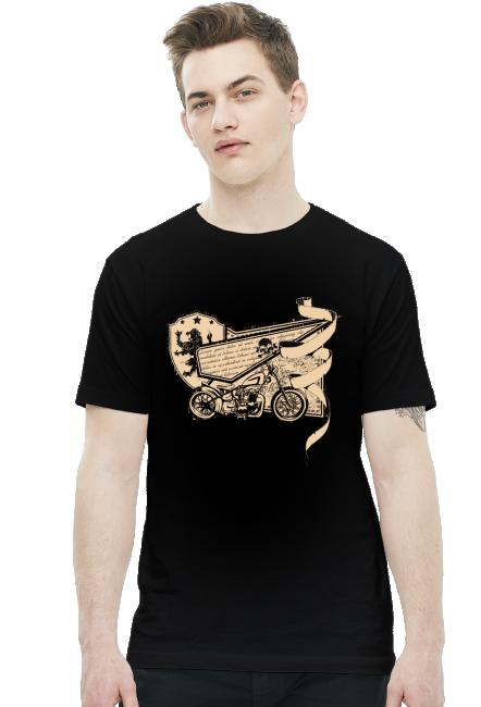 Koszulka - Stary Motocykl - koszulki nietypowe, śmieszne - chcetomiec.cupsell.pl