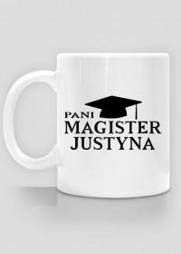 Kubek Pani Magister z imieniem Justyna