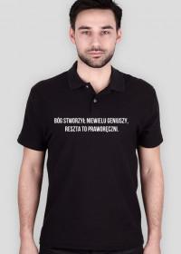 """Koszulka """"Bóg stworzył niewielu geniuszy, reszta to praworęczni"""""""