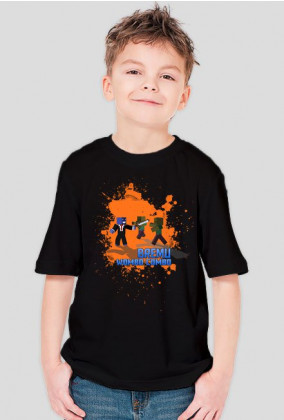DZIECIĘCA - Czarna z Pomarańczowym