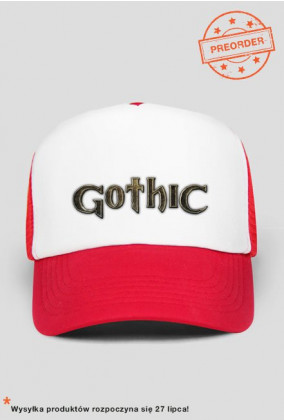 Czapka truckerka Gothic Logo (Czarna/Czerwona/Granatowa)