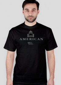 DorStyle-t-shirt męski.(Ameryka,flaga,kapitol)