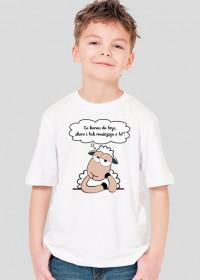 Owca pesymista 1 - koszulka dziecięca