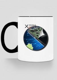 Kubek XperiaSite.pl - małe logo, kolorowy uchwyt