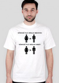 Równość płci - koszulka