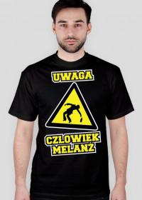 T-Shirt Człowiek Melanż Czarny
