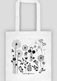 dzikie kwiaty - torba