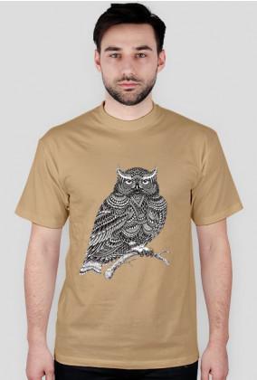 Koszulka męska sowa
