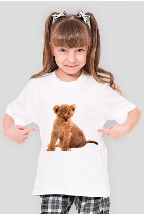 Koszulka dziewczęca lwiątko