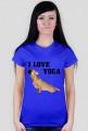 Koszulka damska mops yoga