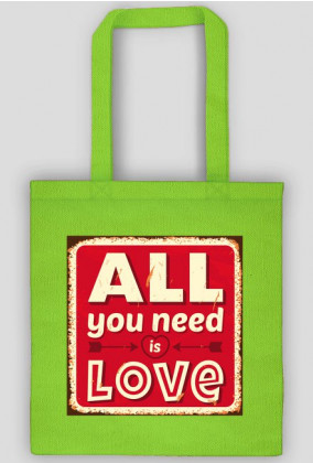 Torba all you need is love red