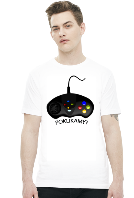 Poklikamy? - koszulka dla informatyka