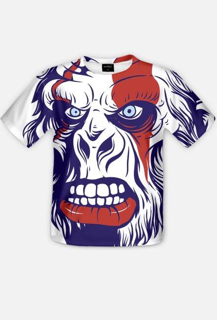 Fullprint - Małpi gniew - koszulka z pełnym nadrukiem