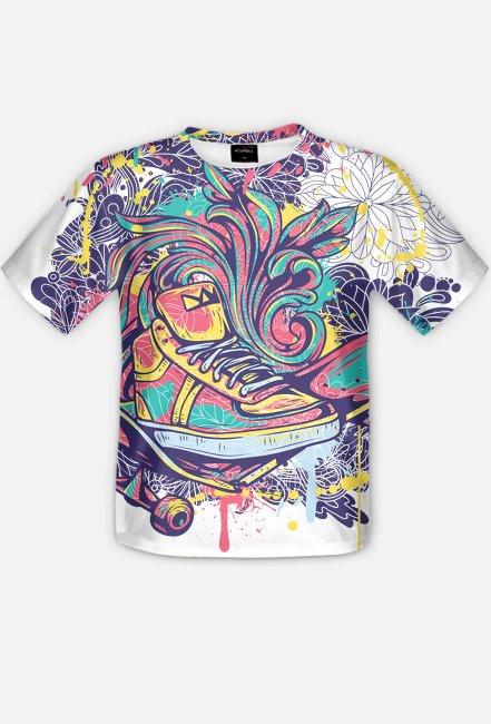 Fullprint - Butowa abstrakcja - koszulka z pełnym nadrukiem