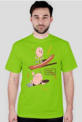 Time for breakfast - t-shirt granatowy - skosztuj.to