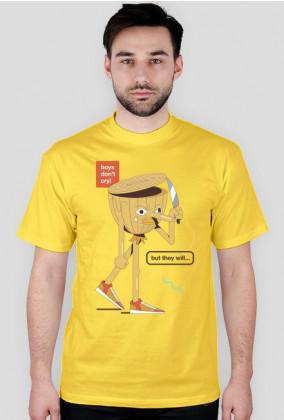 Boys don't cry - t-shirt czerwony - skosztuj.to