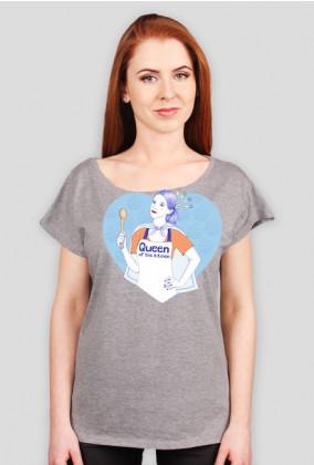 Queen of the kitchen - t-shirt biały damski - skosztuj.to
