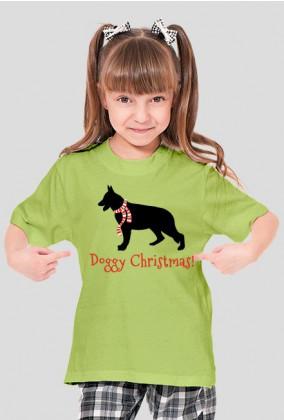 Dziewczęca świąteczna koszulka - Owczarek Niemiecki